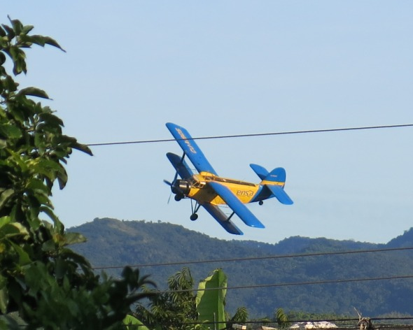 Biplane over Trinidad